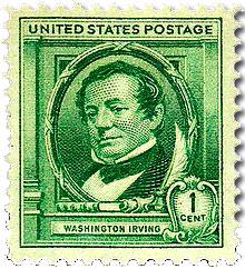 Postal Stamp of Washington Irving in U.S.A