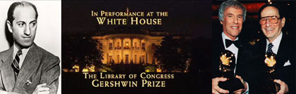 The fourth Gershwin Prize Recipient, Burt Bacharach and Hal David, in Performance at the White House in 2012.