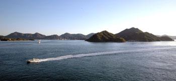 みはらし温泉から瀬戸内海を望む