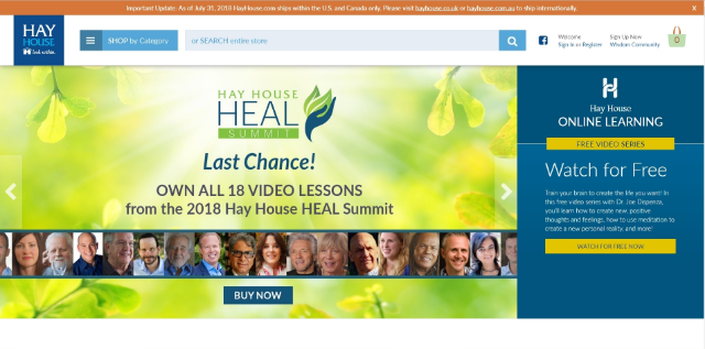 Hay House Heal Summit July 25-31, 2018