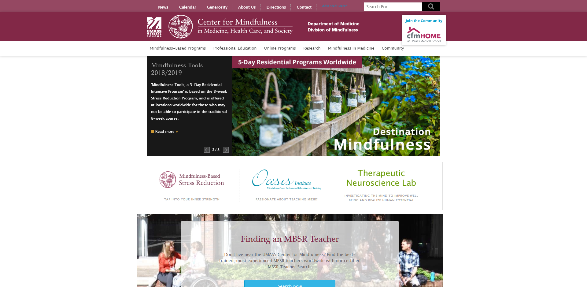Center for Mindfulness in Medicine